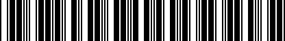 Barcode for 7L0065115