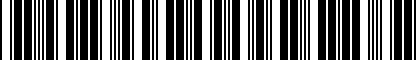 Barcode for NPN092003